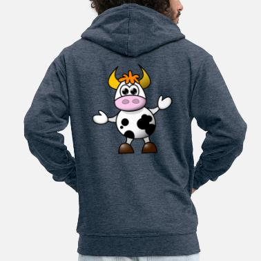 Funny cow - Men's Premium Hooded Jacket