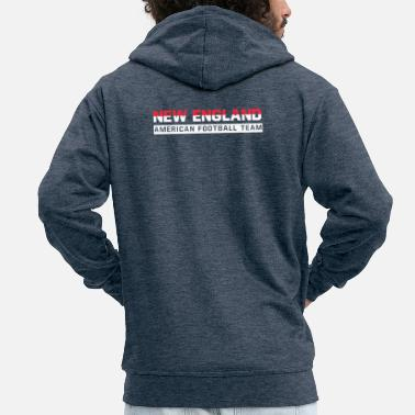 New England New England Football - Men's Premium Zip Hoodie