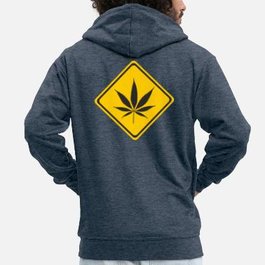 Beware Beware cannabis - Men's Premium Hooded Jacket