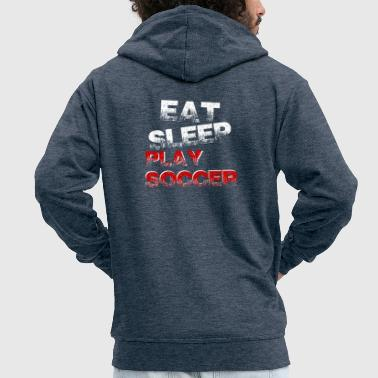 Funny funny saying Football Gift - Men's Premium Hooded Jacket