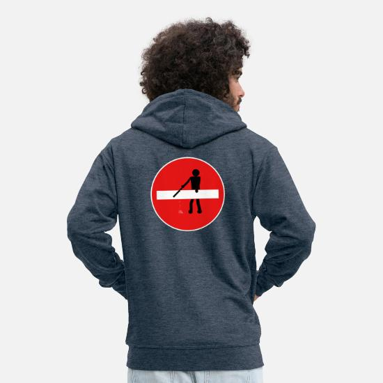 Sinn Hoodies & Sweatshirts - No forbidden meaning - Men's Premium Zip Hoodie heather denim