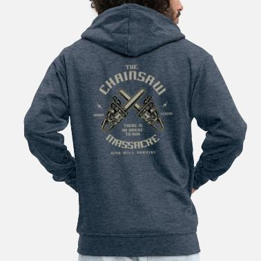 Texas Chainsaw - Men's Premium Hooded Jacket