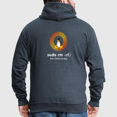 sys admin penguin nerd sudo rm -rf / undo code pc - Men's Premium Hooded Jacket