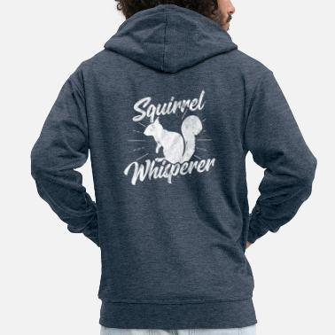 Squirrel Shirt for squirrel whisperer as a gift - Men's Premium Hooded Jacket