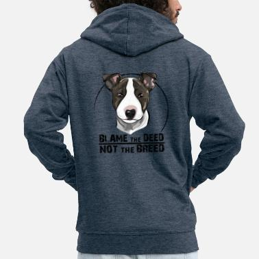 Bullterrier BULLTERRIER blame the deed - Men's Premium Hooded Jacket