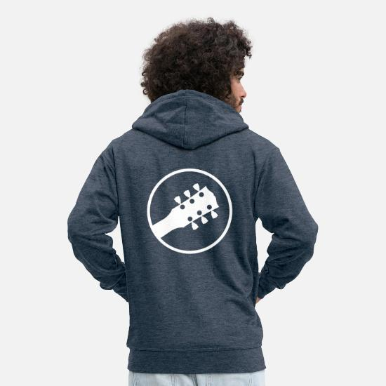 Guitar Hoodies & Sweatshirts - Electric guitar - Men's Premium Zip Hoodie heather denim