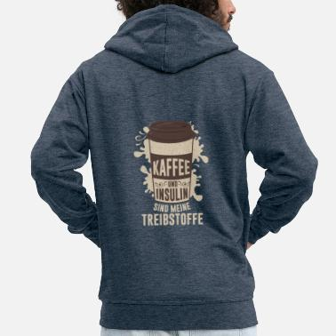 Insulin Coffee and insulin are my fuels - Men's Premium Hooded Jacket