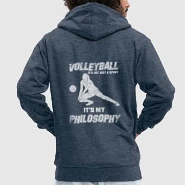 Dredge Volleyball Philosophy setting - Men's Premium Hooded Jacket
