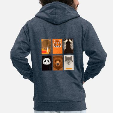 Wild Animal Wild animals - Men's Premium Zip Hoodie