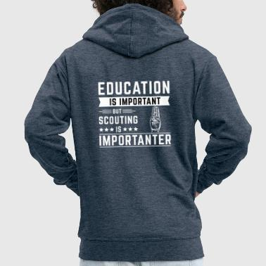 education - Men's Premium Hooded Jacket