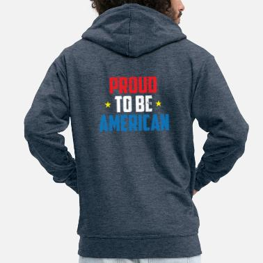 Officialbrands Independence Day 4th Of July Proud To Be American - Men's Premium Hooded Jacket