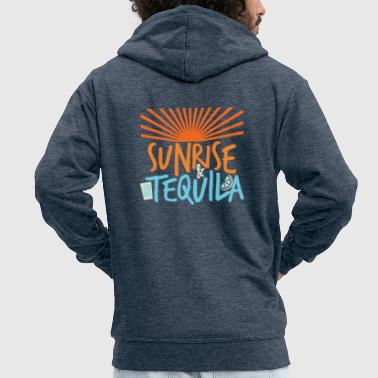 Sunrise and tequila - Men's Premium Hooded Jacket