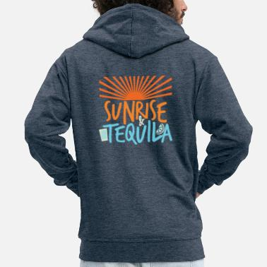 Tequila Sunrise Sunrise and tequila - Men's Premium Hooded Jacket