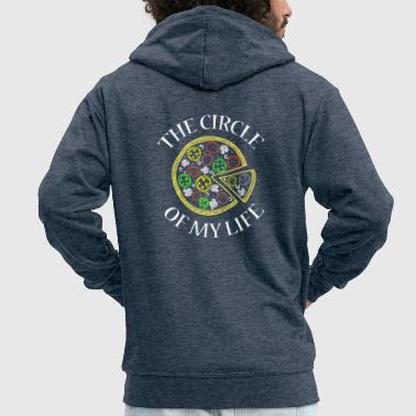 Godly Circle Of My Life Pizza Shirt Tea Most Delicious, - Men's Premium Hooded Jacket