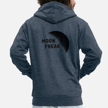Freak Moon Freak ... Moon Freak - Premium bluza rozpinana męska z kapturem