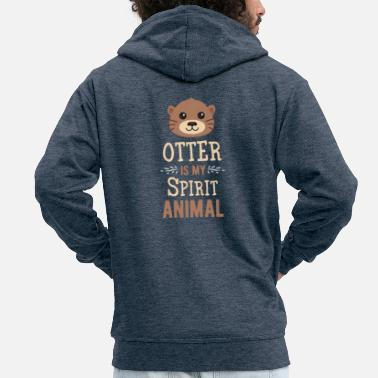 Spirit Otter Animals Otter Otter Spirit Animal soulmate - Men's Premium Zip Hoodie