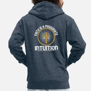 Chain Faith is a passionate intuition - Men's Premium Zip Hoodie
