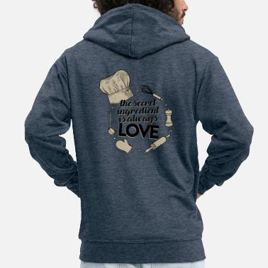 Recipe Recipe love - Men's Premium Zip Hoodie