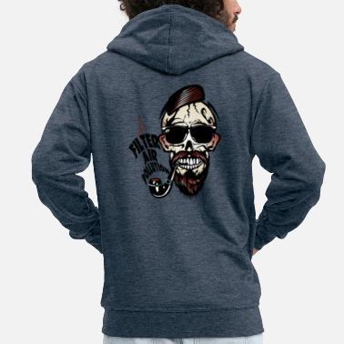 Skull tete de mort hipster filter air pollution skull cr - Veste à capuche Premium Homme
