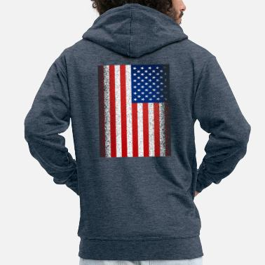 4 juillet Independence Day Stars Stripes USA Flag - Veste à capuche Premium Homme