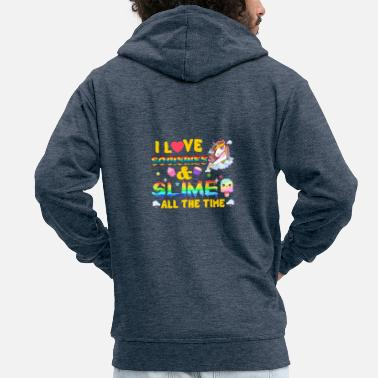 Parade I Love Squishies And Slime All The Time Unicorn - Männer Premium Kapuzenjacke