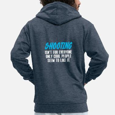 War weapon firearm gun rifle gun handgun - Men's Premium Zip Hoodie