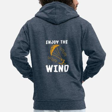 Isolated kitesurfing - Men's Premium Zip Hoodie