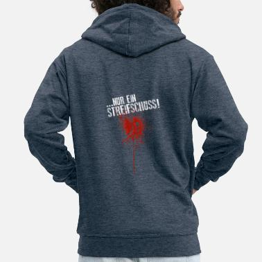 Blood Splatter Rubbing Halloween shot blood splatter - Men's Premium Hooded Jacket