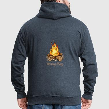 Happy Newruz / Newruz fire. - Men's Premium Hooded Jacket