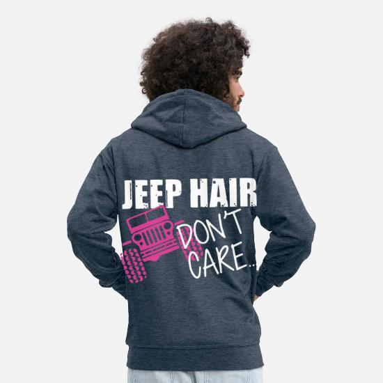 V8 Hoodies & Sweatshirts - Muscle car - Men's Premium Zip Hoodie heather denim