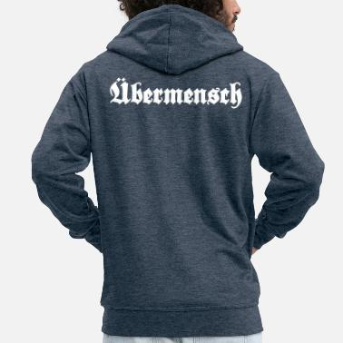 Quote Übermensch - Overman - Men's Premium Zip Hoodie