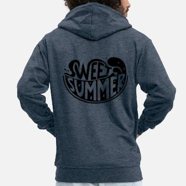 Daylight Saving Time Summer watermelon - Men's Premium Zip Hoodie