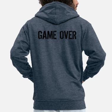 Game Over Game over - Mannen premium zip hoodie