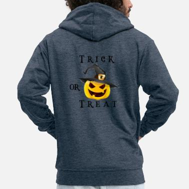 Trick or Treat - Mannen premium zip hoodie