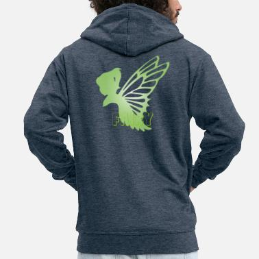 Fairy Mythical Fantasy Creatures - Men's Premium Zip Hoodie