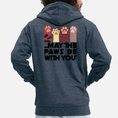 May the Paws be with you - Men's Premium Zip Hoodie