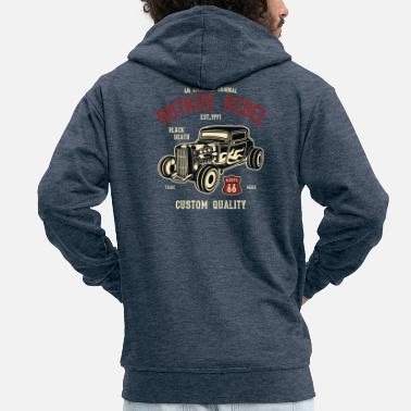 Hot Hot Rod Rebel 2 - Men's Premium Zip Hoodie