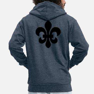 Symbols-shapes Symbol shape crown icon - Men's Premium Zip Hoodie