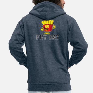 Frying FRY DAY - Men's Premium Zip Hoodie