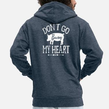 Pizza Don't Go My Heart - Men's Premium Zip Hoodie