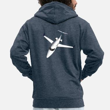 Jet Private Jet Airplane Jet Jet - Mannen premium zip hoodie