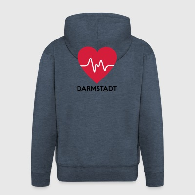 heart Darmstadt - Men's Premium Hooded Jacket