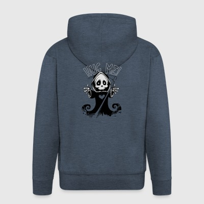 Hug Me - Grim Reaper - Men's Premium Hooded Jacket