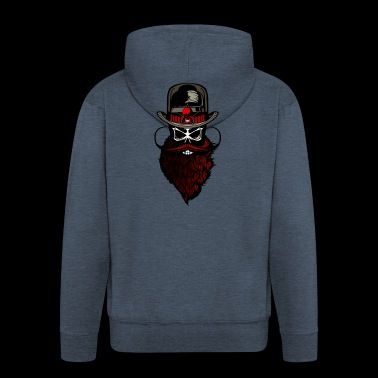 bearded hipster beard crane beard - Men's Premium Hooded Jacket