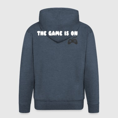 THE GAME IS ON T-SHIRT - Men's Premium Hooded Jacket