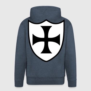 templar cross 2 - Men's Premium Hooded Jacket