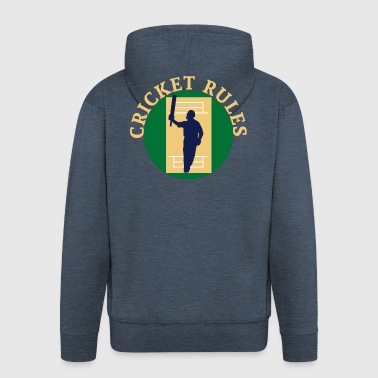 Cricket Rules - Men's Premium Hooded Jacket