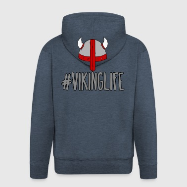 Vikings: #VikingLife - Men's Premium Hooded Jacket