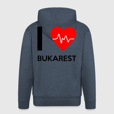 I Love Bucharest - I love Bucharest - Men's Premium Hooded Jacket
