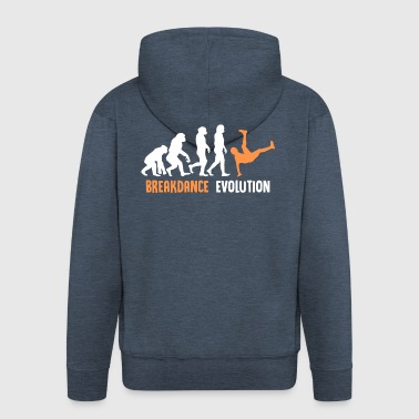 ++ ++ Breakdance Evolution - Felpa con zip Premium da uomo